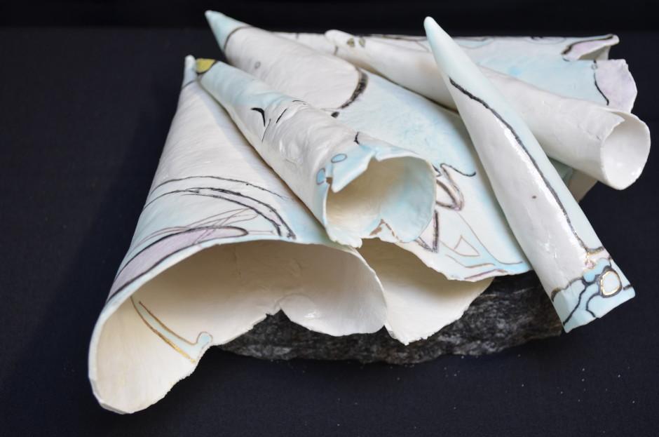 WaterBloemen, paperporcelain