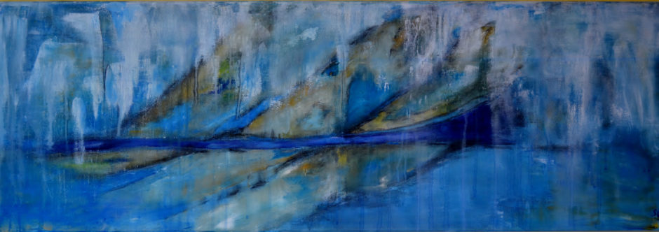 misty-morning-acrylic-and-chalk-on-canvas-40x120cm